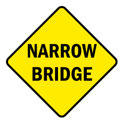 Road Sign Narrow Bridge