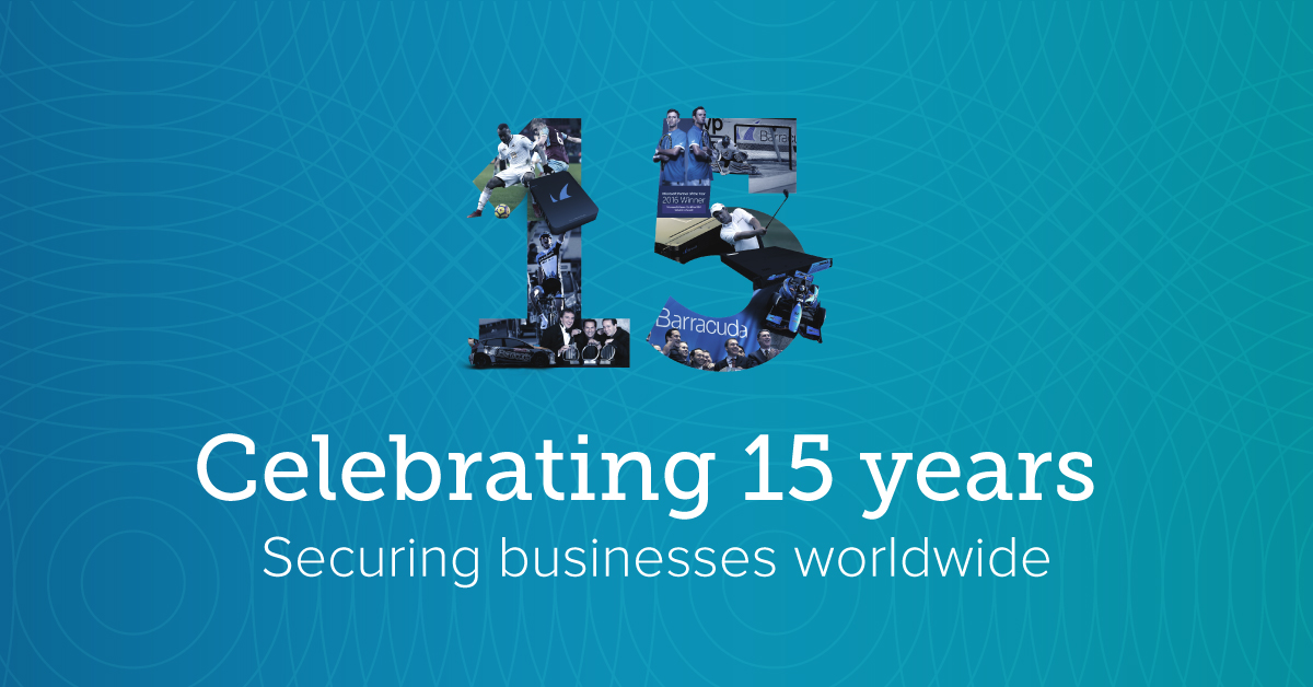 Barracuda 15 year anniversary
